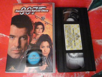 TOMMORROW NEVER DIES, 007, VHS, FILM