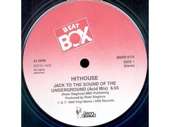 "Hithouse – Jack to the sound of the underground (Beat Box 12"")"