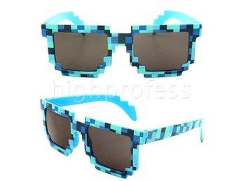 Minecraft Solglasögon Blå Glasögon Pixel Blocks Mosaik - Samut Prakan - Minecraft Solglasögon Blå Glasögon Pixel Blocks Mosaik - Samut Prakan