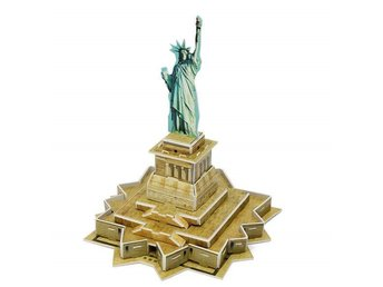 3D Pussel Frihetsgudinnan Jigsaw Mini Statue of Liberty DIY Toy