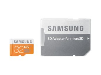 Samsung MB-MP32DA microSDHC minneskort 32GB med SD adapter EVO