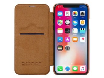 Nillkin Qin FlipCover Apple iPhone X Färg: Brun