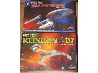 STAR TREK ENTERPRISE NCC-1701 & KLINGON D7 BATTLECRUISER   POLAR LIGHTS BYGGSATS
