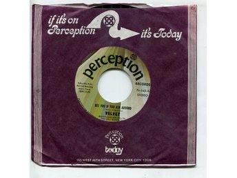 "Velvet -Bet you if you ask around 7"" Perception rec USA 1973"