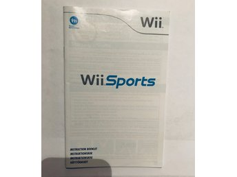 Wii Sports instruktionsbok (Svensk manual / WII)