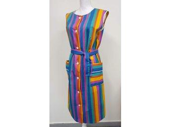 Färgglad Äkta Vintage klänning stl 42 .. (381780671) ᐈ