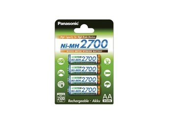 4x AA 2700mAh Panasonic Rechargeable Battery ON1320