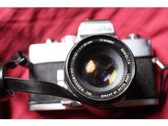 Kamera analog Minolta SRT 303, tre objektiv medföljer - Södertälje - Kamera analog Minolta SRT 303, tre objektiv medföljer - Södertälje