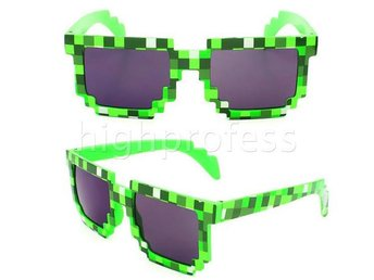 Minecraft Solglasögon Grön Glasögon Pixel Blocks - Samut Prakan - Minecraft Solglasögon Grön Glasögon Pixel Blocks - Samut Prakan