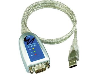 Moxa USB till seriell adapter, RS-232/422/485, DB9ha, 10 cm