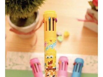 Ny rolig Svampbob bläckpenna med 10 färger för barn - Hällingsjö - Ny härlig bläckpenna med följande färger: ljusblå, blå, grön, orange, brun, röd, rosa, lila, svart och gul.Vi är ett djur- och rökfritt hem.Kolla gärna in våra andra annonser som ligger ute just nu. Vi samfraktar gärna om du k