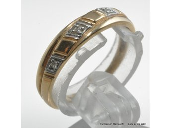 Ring med 3  diamanter 3x0,005ct swe 18k 1,8gr Ø17mm