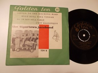 "THE TIGERTOWN JAZZBAND 7"" EP Golden Ten Norge 50-tal Tradjazz"