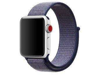 Nylon Loop 42/44mm Apple Watch Armband - (MIDNIGHT BLUE)