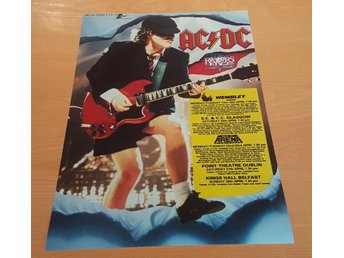 AC/DC UK TOUR 1991 POSTER
