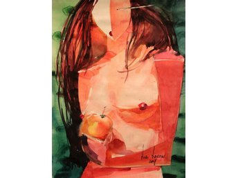 """Eve med äpple"" akvarell på papper 42 cm x 64 cm "" - Ramenskoe - ""Eve med äpple"" akvarell på papper 42 cm x 64 cm "" - Ramenskoe"