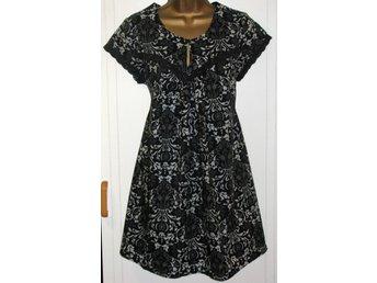 Tunika klänning svart mönstrad 38 vintage - örnsköldsvik - Tunika klänning svart mönstrad 38 vintage - örnsköldsvik