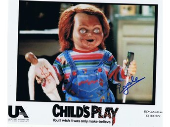 Äkta Autograf Ed Gale Chucky / Childs Play  COA