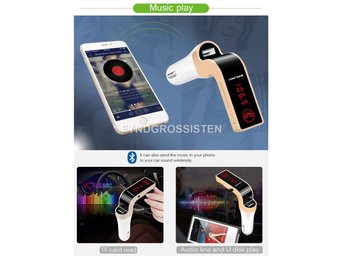Bluetooth FM Transmitter USB Charger Fri Frakt Helt Ny