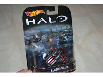 Banished Wraith fr. HALO Wars 2 ca 1:64 Hot Wheels Presentbox Hög Kvalitet Ny