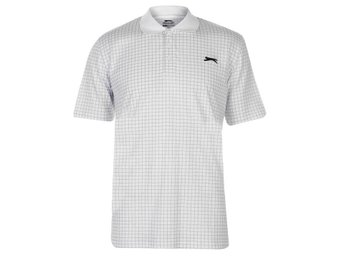 SLAZENGER CHECKED GOLF PIKE HERR VIT   X-LARGE