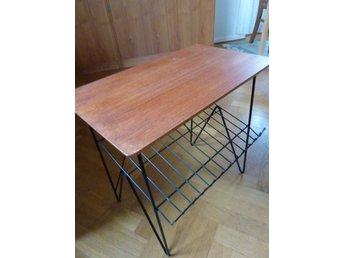 Topmoderne Retro bord i teak med tidnings hylla och ben I.. (359953838) ᐈ WE-06