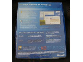 Windows XP Professional Original (32bit) Engelsk NY OÖPPNAD