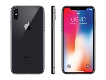 Apple iPhone X 64GB, rymdgrå, PERFEKT SKICK