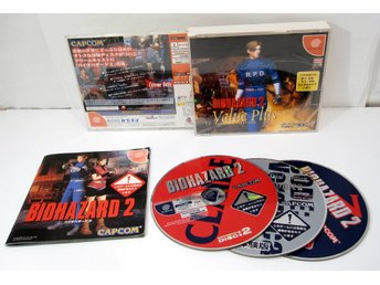 Biohazard 2: Value Plus ( Resident Evil ) till japanskt DC Dreamcast