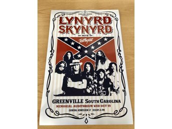 LYNYRD SKYNYRD TED NUGENT GREENVILLE 1977 GLOSSY PHOTO POSTER