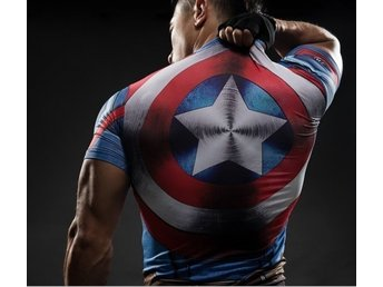Supersnygg captain america t-shirt i storlek S