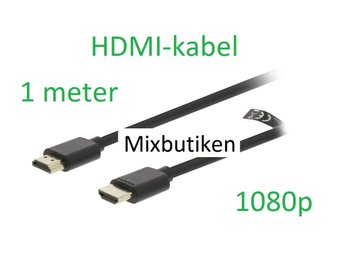 HDMI-kabel 1m version 1.4 1080p. 1 meter guldpläterad High Speed m. Ethernet