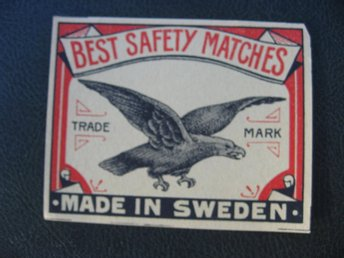 Tändsticksetikett  Best Safety Matches Sverige