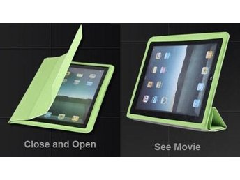 iPad 2/3/4 Magnetic fodral Cover Back Case Green