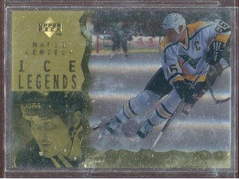 Mario Lemieux -  1996-97 Upper Deck Ice Acetate Parallel #114