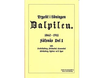 Ur: tidn Dalpilen Säfsnäs del I, Fredriksberg finnmark - Köping - Ur: tidn Dalpilen Säfsnäs del I, Fredriksberg finnmark - Köping