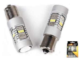 Ba15s Canbus p21w 1156 Led m. 14st 3020smd backljus 2-pack