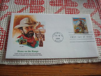 Cowboy Home on the Range 1994 USA förstadagsbrev Legends of the West