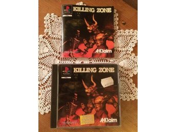 Killing zone Playstation 1 PAL 1-2 spelare, ingen svensk text på baksidan