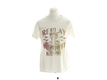 Replay, T-shirt, Strl: M, Vit/Gul/Röd