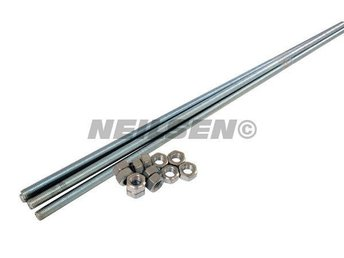 10MM M10 Threading Bar With Nuts , Make your own Bolts 1 Meter Long Threaded