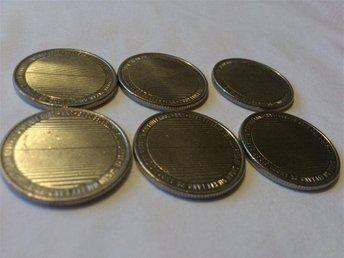 Javascript är inaktiverat. - Brastad - 6 x 1 krona Sverige-Finland 1809-2009. Skick se bild. - Brastad