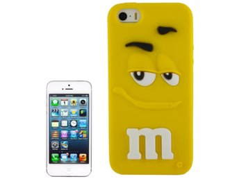 iPhone 5/5S Silikonskal M&M Gul