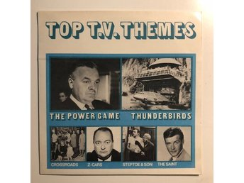 "7"" V/A - Top TV themes 66 UK Thunderbirds The Saint Roger Moore Z-Cars"