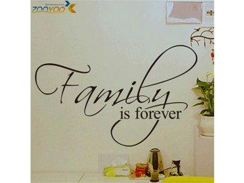 """""""Family is forever"""" vinyl vägg klistermärken 45 27 cm - Bandhagen - """"Family is forever"""" vinyl vägg klistermärken 45 27 cm - Bandhagen"""