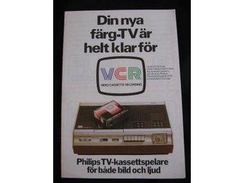 PHILIPS TV-KASSETTSPELARE 70-tal Nordisk broschyr 4 språk - Grönahög - PHILIPS TV-KASSETTSPELARE 70-tal Nordisk broschyr 4 språk - Grönahög