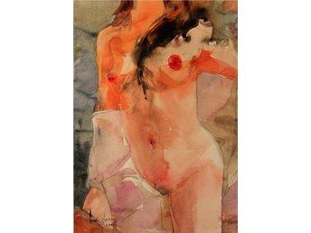 """""""Lisa ömhet """" akvarell på papper 64 cm - Ramenskoe - """"Lisa ömhet """" akvarell på papper 64 cm - Ramenskoe"""