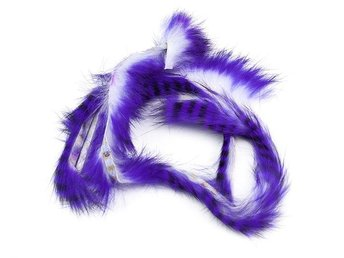 Tiger Rabbit Zonker Strips - Purple B...