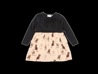 Underbara MINI RODINI KITTEN DRESS st 92/98