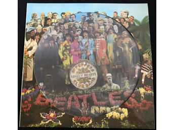 BEATLES Sgt Peppers Lonely Hearts Club Band PICTURE DISC Die Cut sleev Laminerad